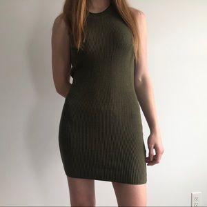 GUESS Green Sleeveless Knit Dress